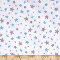 Thomas the Train Team Thomas Star White from @fabricdotcom  Licensed by Gullane (Thomas) Limited for Quilting Treasures, this fabric is perfect for quilting, apparel and home décor accents. Colors include grey and light blue on a white background.