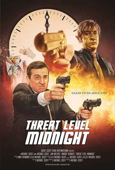 Time to officially reveal my tribute to the greatest movie ever made: Threat Level Midnight! I wanted to create some art celebrating The Office and this was a good place to start, haha. Office Themed Party, Office Birthday, Threat Level Midnight, The Office Show, Office Movie, Movie Theater, Office Jokes, Funny Office, Office Wallpaper