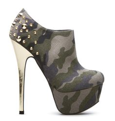 army print ankle boots heels