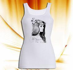 Lana Del Rey Tatto Tank top T shirt T shirt Girl by sampokongs, $19.80