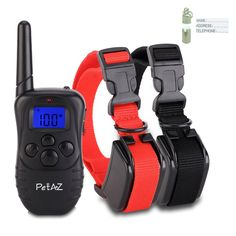 PetAZ Dog Training Collar With Remote Rechargeable and Rainproof LCD Screen 330 Yard Beep/Vibration/Shock Electric Train Collars For Small,Medium,Large PetsandDogs * Additional info : Dog harness Dog Shock Collar, Collar And Leash, Cat Collars, Probiotics For Dogs, Electric Dog Collar, Indestructable Dog Bed, Wireless Dog Fence, Cat Store, Cat Harness