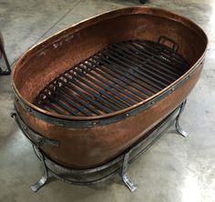 Beautiful copper tub fire pits available at The Backyard & Patio Store. Copper Tub, Patio Store, Outdoor Living, Outdoor Decor, Charcoal Grill, Fire Pits, Backyard Patio, Beautiful, Home Decor