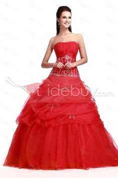 Charming Ball Gown Sleeveless Floor-Length Hot Red Sandra's Quinceanera Gown Dress