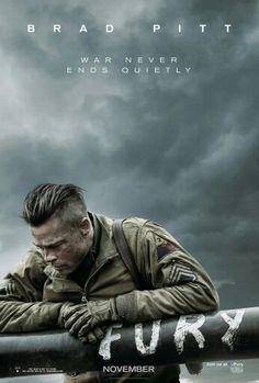 The first Fury poster for David Ayer's World War II tank action-drama starring Brad Pitt, Shia LaBeouf, Logan Lerman, Michael Pena, and Jon Bernthal. Logan Lerman, Easy Movies, Great Movies, Movies Free, Shia Labeouf, Film Movie, Fury 2014, Bon Film, Films Cinema