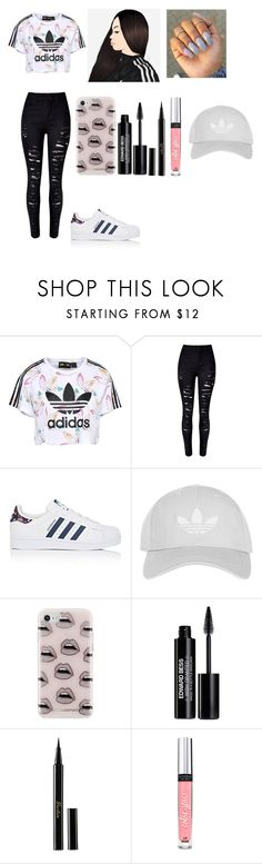 """""""Street Style Chic"""" by jaden-norman on Polyvore featuring adidas Originals, WithChic, adidas, Topshop, Rebecca Minkoff, Edward Bess, Guerlain and Victoria's Secret"""