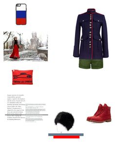 """""""Inspired Look: Military Jacket"""" by kpopqueen on Polyvore featuring Clare V., LE3NO, Burberry, Timberland and Casetify"""