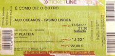 """Teatro: """"É como diz o outro"""". Auditório dos Oceanos - Casino de Lisboa, Portugal. 2011-09-17."""
