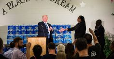 """Donald Trump Gets Cool Reception at Black Church in Flint, Mich.. The trip did not exactly go as planned. At a church, Mr. Trump was interrupted in the middle of his remarks by the pastor, the Rev. Faith Green Timmons, after he started to criticize Hillary Clinton. """"Mr. Trump, I invited you here to thank us,"""" she said, adding, """"not make a political speech."""""""