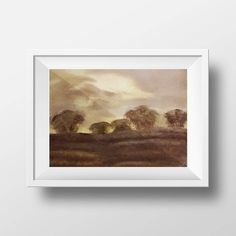 Landscape Original Acrylic on for Home Decor Autumn Brown Romantic Trees Art by DeniseArtStudio on Tree Art, Trees, Romantic, Paintings, Autumn, Landscape, The Originals, Brown, Paper