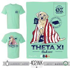 #402ink #402style 402ink, Custom Apparel, Greek T-shirts, Sorority T-shirts, Fraternity T-shirts, Greek Tanks, Custom Greek Apparel, Screen printed apparel, embroidered apparel, Fraternity, TX, Theta Xi, Rush, America Theme, Dog