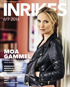 INRIKES nr 5 2014. With Moa Gammel Travel Magazines, Netflix, Bollywood, Films, Cinema, Leather Jacket, Actors, Store, Movies