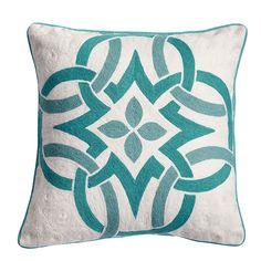 Kess InHouse Jacqueline Milton Fun Fern-Sky Blue Aqua 26 Round Floor Pillow