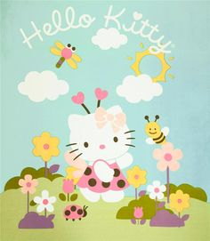 Hello Kitty Enjoying a Spring Day! #HelloKitty #Spring