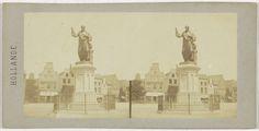 anoniem   Statue de Koster, a Harlem, possibly Henri Plaut, before 1858  
