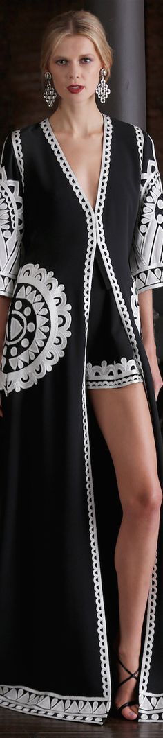 Naeem Khan 2015 Resort...with black skinny pant.