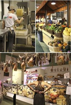 Eataly, NYC. One of place have everything italian, groceries, produce, wines, cheeses, restaurants under one roof. Owned by Mario Batali, the well known famous italian chef.