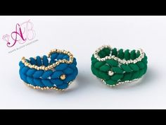 ▶ DIY Tutorial Anello Atene - anello con Superduo Neon e Rocailles - YouTube