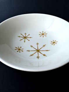 Small Royal China Star Glow Bowl. Mid Century by GatewayHeirlooms