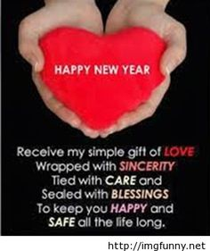 Beautiful wishes for New Year 2015 wallpaper with heart
