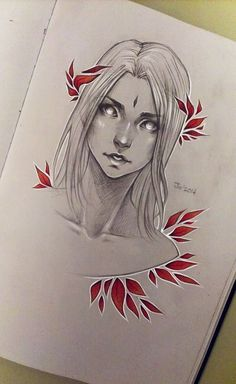 Red leaves [2] by sashajoe on DeviantArt . Character Drawing Illustration