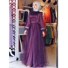 Image may contain: one or more people and people standing Islamic Fashion, Muslim Fashion, Hijab Fashion, Fashion Dresses, Long Skirt Fashion, Hijab Dress Party, Dress And Heels, Bridesmaid Dress, Dress Wedding