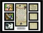 Pawprints Memorial Pet Collage Frame - Pawprints Left By You