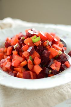 Finnish Christmas with a Twist: Rosolli - Christmas Salad -  beets, sweet potatoes, and carrots = yum!