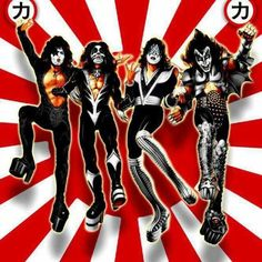 kiss in japan concert poster (retro)* Concert Rock, Kiss Concert, Gene Simmons, Paul Stanley, Rock N Roll, Metallica, Heavy Metal, Ac Dc, Rock Band Posters