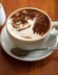 Awesome Coffee Art✖️More Pins Like This of At FOSTERGINGER @ Pinterest✖️