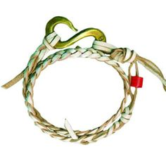 """Giles & Brother - Braided """"S"""" hook bracelet-Available in other colors!"""
