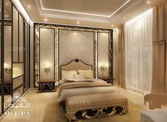 Find new luxury bedroom interior designs ideas for your home. Contact our team of experts to consult your bedroom interior design project today! Interior Ceiling Design, House Ceiling Design, Interior Design Dubai, Bedroom False Ceiling Design, Modern Home Interior Design, Residential Interior Design, Commercial Interior Design, Interior Design Companies, Master Bedroom Design