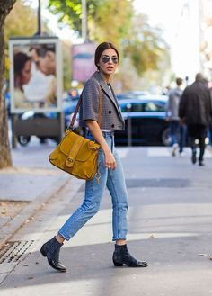 How to Wear Boyfriend Jeans: Outfit Ideas: Boyfriend Jeans With a Tailored Jacket