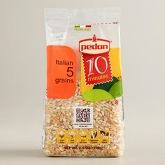One of my favorite discoveries: Pedon 10 or  5-minute Grains…. perfect when you are in a rush! And for those who care…. organic, kosher, the works! LOVE this brand