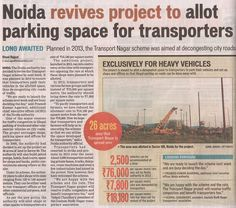 #Noida Revives Project to allot #parking space for #transporters!!  www.crsgroupindia.com  #CrsGroup #investment #NCRproperty #RealEstateConsultant