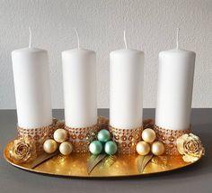 Advent wreath, advent decoration, golden christmas, christmas decor, christmas glam