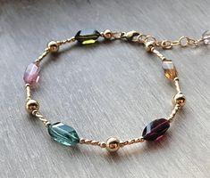 Tourmaline Bracelet Watermelon Tourmaline crystal bracelet