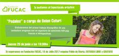 Belén Cuturi-Pedaleo / 25 de junio 19.30 hs / @FundacionFUCAC / ENTRADA LIBRE Gracias x RT