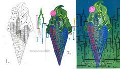 Surreal Illustrations // Graphic Design Lesson