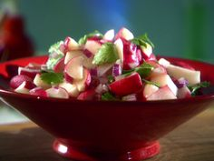 Radish salad:  This recipe could easily be doubled. I used dried cilantro (half the amount of fresh) If you throw the radishes in and still have a little more marinade than you need, chop up a little more radishes and onion and throw em in!