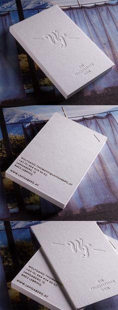 Stylish Monogrammed Minimalist Black And White Business Card Design