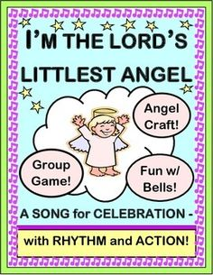 Play an active GROUP GAME where your kids get to be the 'Good News Angels'! Make a decorated ANGEL CRAFT with the Template provided. Easy SONG Directions included for a great tune-- no musical skills required! Fun for your class or your Christmas Program! (7 pages) From Joyful Noises Express TpT! $