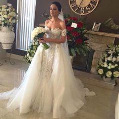 Sweetheart Bridal Dress with Tulle,Mermaid Wedding Dress,Beautiful Prom Dress,JD 255
