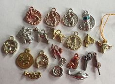 Mixed Lot of 20 Vintage Cracker Jack Charms Metallic Shiny Plastic | eBay