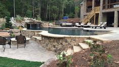 Having a pool sounds awesome especially if you are working with the best backyard pool landscaping ideas there is. How you design a proper backyard with a pool matters. Sloped Backyard, Backyard Pool Landscaping, Backyard Pool Designs, Swimming Pools Backyard, Swimming Pool Designs, Hillside Pool, Building A Pool, Backyard Makeover, In Ground Pools
