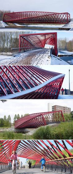 West 8 Architects - The Twist Bridge in The Netherlands