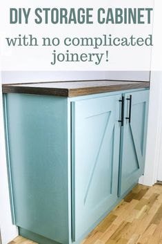 diy storage cabinet If youre looking for a simple way to build a hallway cabinet for extra storage in your home, youre going to love the detailed step by step tutorial. Learn how to make this DIY storage cabinet with no complicated joinery! Diy Kitchen Storage Cabinet, Hallway Storage Cabinet, Craft Storage Cabinets, Diy Cabinet Doors, Cabinet Plans, Small Cabinet, Built In Cabinets, Diy Cabinets, How To Build Cabinets