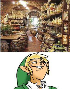 Link in an antique vase shop ^.^