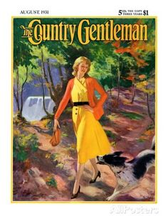 """""""A Walk in the Woods,"""" Country Gentleman Cover, August 1, 1931 Giclee Print by John Newton Howitt at AllPosters.com"""