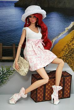 HABILISDOLLS outfit, clothes, boots for Fashion Royalty FR2, Barbie,Jem dolls