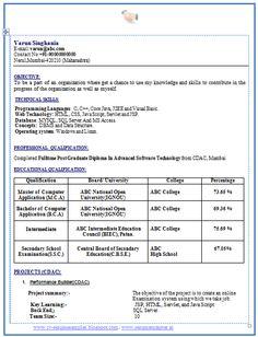 Professional Curriculum Vitae / Resume Template Sample Template of Latest MCA BCA Fresher Resume Sample in… Standard Resume Format, Cv Resume Sample, Resume Format Free Download, Professional Resume Format, Latest Resume Format, Simple Resume Format, Job Resume Template, Free Resume, Resume Cv